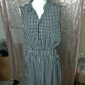 NWOT Alfani Gingham Pinup Dress SZ 16